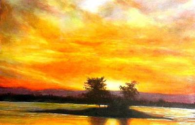 Painting - Okinawa's Dawn by Marie-Line Vasseur