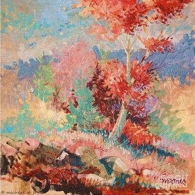 Acrylic Painting - Oklahoma Autumn by Micheal Jones