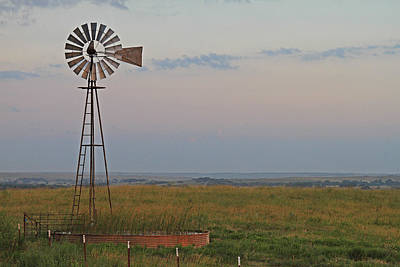 Oklahoma Windmill Art Print by Tony Grider