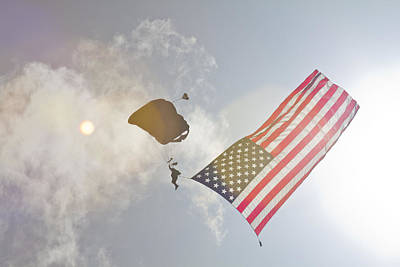 Photograph - Ol Glory On Display After The Jump by Nicholas Evans