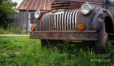 Rusty Car Photograph - Old Abandoned Pickup Truck by Edward Fielding