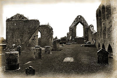 Photograph - Old Abbey Roscommon by Terence Davis