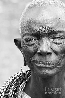 Photograph - Old African Lady by Anna Om