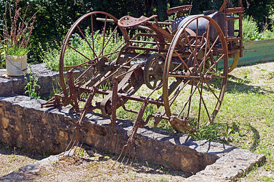 Photograph - Old Agricultural Equipment 4 by Rod Jones