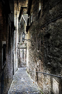 old alley in Italy Art Print by Joana Kruse