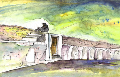 Painting - Old And Lonely In Crete 01 by Miki De Goodaboom