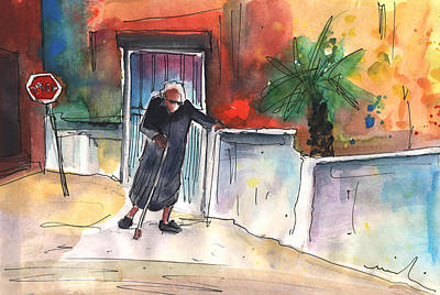 Painting - Old And Lonely In Crete 04 by Miki De Goodaboom