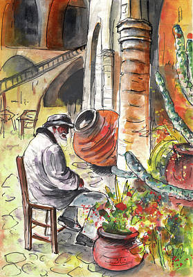 Painting - Old And Lonely In Cyprus 02 by Miki De Goodaboom
