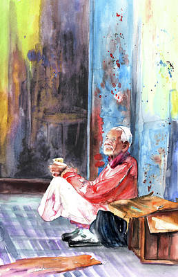 Painting - Old And Lonely In Morocco 01 by Miki De Goodaboom