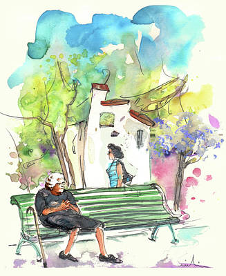 Impressionism Drawings - Old and Lonely in Portugal 04 by Miki De Goodaboom