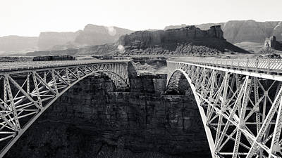 Photograph - Old And New Navajo Bridge by Julie Niemela