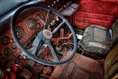 Rusty Cars Photograph - Old And Rusty 1  by Emmanuel Panagiotakis