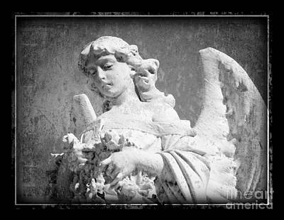 Art Print featuring the photograph Old Angel by Jeanne  Woods