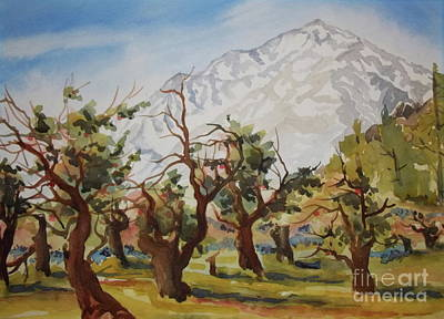 Painting - Old Apple Orchard Mt Tom View by Pat Crowther
