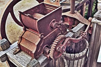 Photograph - Old Apple Press 3 by Bill Owen