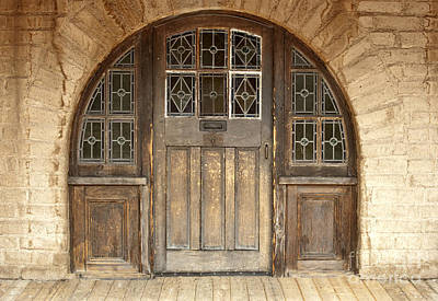 Photograph - Old Arched Doorway by Sandra Bronstein