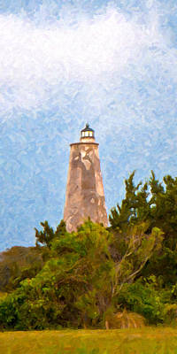 North Carolina Lighthouses Digital Art - Old Baldy by Betsy Knapp