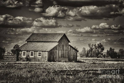 Photograph - Old Barn After The Storm Black And White by Jim and Emily Bush