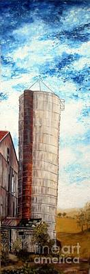 Painting - Old Barn And Silo by Anna-maria Dickinson