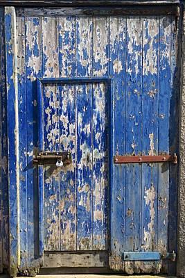 Farm Life Paintings Rob Moline - Old Barn Door by John Short