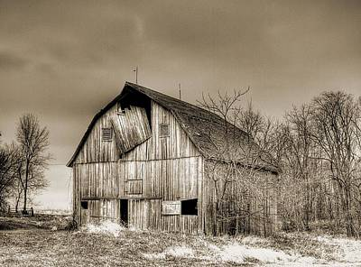 Photograph - Old Barn by HW Kateley