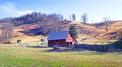 Photograph - Old Barn In November by Duane McCullough