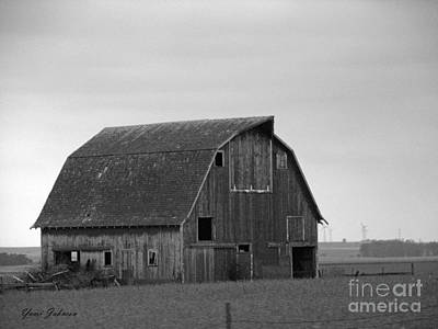 Art Print featuring the photograph Old Barn In Winter by Yumi Johnson