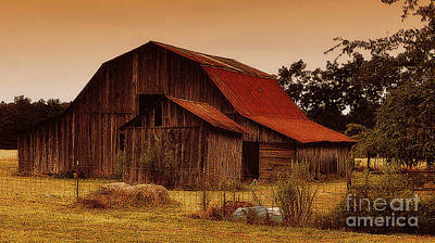 Art Print featuring the photograph Old Barn by Lydia Holly