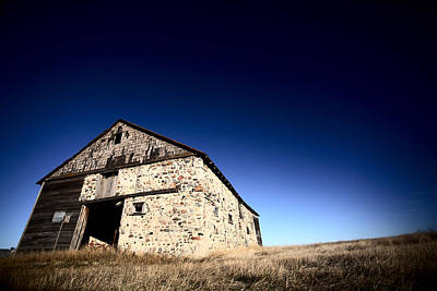 Hood Ornaments And Emblems - Old barn on the Prairies by Mark Duffy