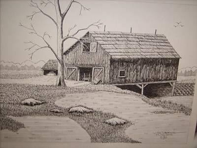 Old Barn Art Print by William Deering