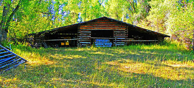 Old Barn With Wings Art Print by Lenore Senior and Dawn Senior-Trask
