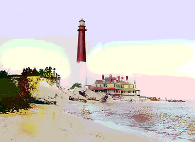 Old Barney Lighthouse Art Print by Charles Shoup
