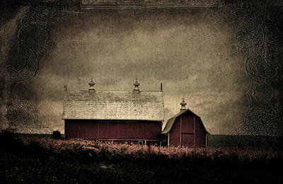 Photograph - Old Barns by Emily Stauring