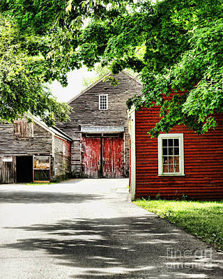 Deerfield Photograph - Old Barns by HD Connelly