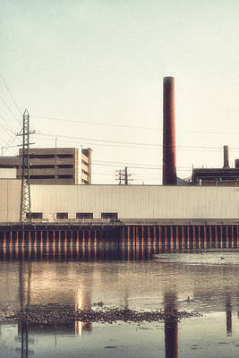 Photograph - Old Bergstom Smokestack by Joel Witmeyer