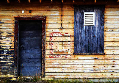Photograph - Old Blue Doors by Matt Hanson