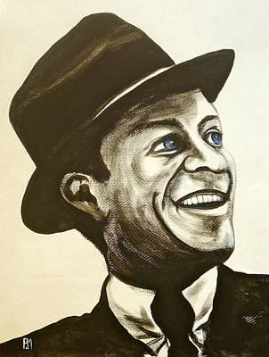 Fedora Painting - Old Blue Eyes by Pete Maier