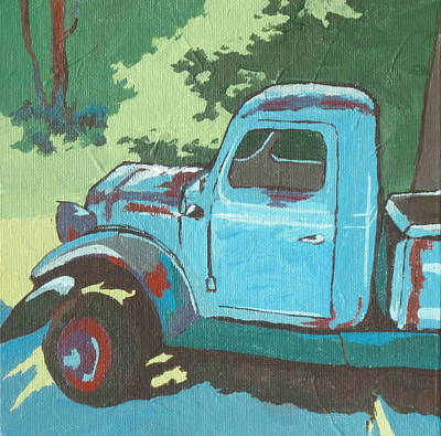 Painting - Old Blue by Sandy Tracey