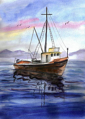 Painting - Old Boat by Clara Sue Beym