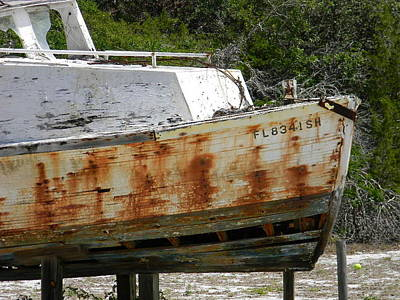 Old Boat In Cedar Key Closeup Original by Warren Thompson