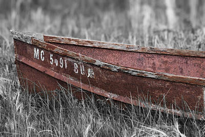Old Boat Washed Ashore  Art Print by Joe Gee