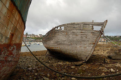 Photograph - Old Boats Aground by RicardMN Photography