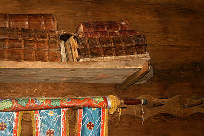 Photograph - Old Books In Church by Emanuel Tanjala