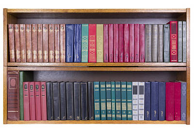 Old Books With Color Covers  On A Shelf  Art Print by Aleksandr Volkov