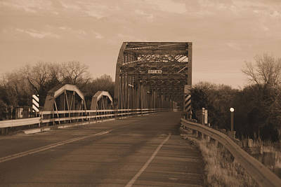 Photograph - Old Bridge In Sepia by Robyn Stacey