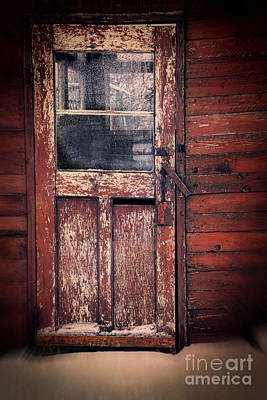 Photograph - Old Broken Door With The Word Kill In Window by Sandra Cunningham