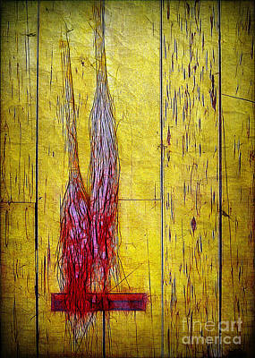 Photograph - Old Brooms by Judi Bagwell