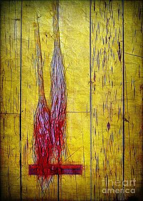 Old Brooms Art Print by Judi Bagwell