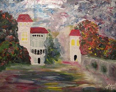 Painter Mixed Media - Old Bucharest Residence by Carmen Kolcsar