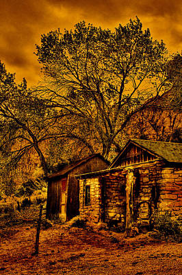 Photograph - Old Cabin In The Red Rock Canyon by David Patterson
